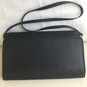 H & M black clutch sachel bag